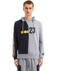 Diadora - Lc23 Colour Block Twill Sweatshirt - Lyst