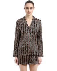 Stella McCartney - Matches Print Silk Pyjama Shirt & Trousers - Lyst