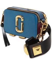 Marc Jacobs - Snapshot W/ Studs Leather Shoulder Bag - Lyst