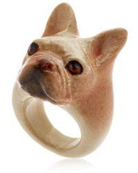 Nach - Beige French Bulldog Ring - Lyst
