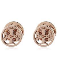 Tory Burch | Logo Circle Stud Earring | Lyst
