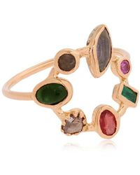 DORETTE | Crown Ring, 18kt Gold | Lyst