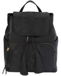 "Tory Burch - Zaino ""fleming"" In Pelle - Lyst"