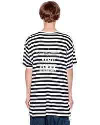 Yohji Yamamoto - Striped Cotton Blend Jersey T-shirt - Lyst