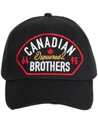 "DSquared² - Cappello Baseball ""canadian Brothers"" In Cotone - Lyst"