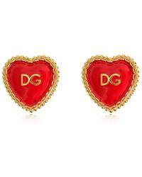 "Dolce & Gabbana - Orecchini A Clip ""dg Heart"" - Lyst"