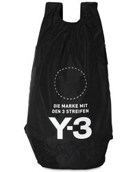 Y-3 - Logo Print & Embroidered Nylon Backpack - Lyst