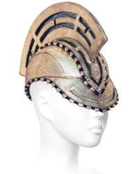 House of Malakai - Trojan Leather Hat/mask - Lyst