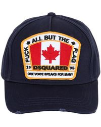 DSquared² - Patch Canvas Baseball Hat - Lyst
