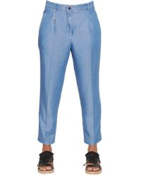 Incotex - Luna Light Chambray Denim Trousers - Lyst