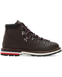 Moncler - Peak Leather Hiking Boots - Lyst