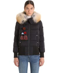 Peuterey - Hotas Down Bomber Jacket W/ Fur Trim - Lyst