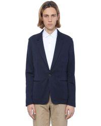 Lanvin - Pinstriped Cotton Jersey Jacket - Lyst
