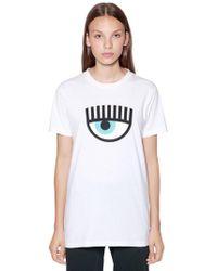 Chiara Ferragni - Eye Patch Cotton Jersey T-shirt - Lyst