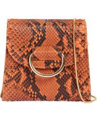 Little Liffner - Tiny Box Python Shoulder Bag - Lyst