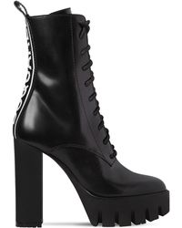 DSquared² - 130mm Logo Brushed Leather Boots - Lyst