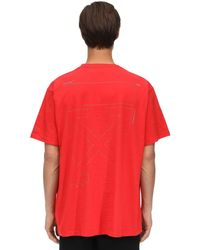 Off-White c/o Virgil Abloh - Oversize Unfinished Print Cotton T-shirt - Lyst