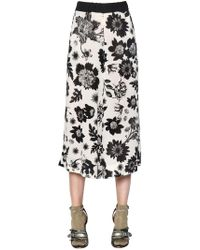 Antonio Marras | Floral Printed Crepe Cropped Trousers | Lyst