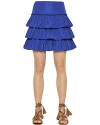 Blugirl Blumarine - Tiered Ruffled Taffeta Skirt - Lyst