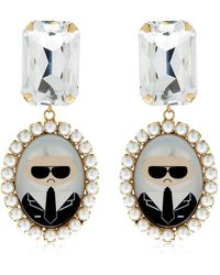 Bijoux De Famille - Karl Cameo Pendant Earrings - Lyst
