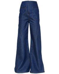 Esteban Cortazar | Flared Cotton Denim Jeans | Lyst