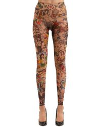 DSquared² - Aloha Printed Tulle Leggings - Lyst