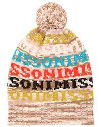 db06441fb24 Missoni - Logo Wool Blend Knit Beanie Hat - Lyst