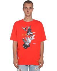 Heron Preston - T-shirt Aus Baumwolle Mit Druck - Lyst