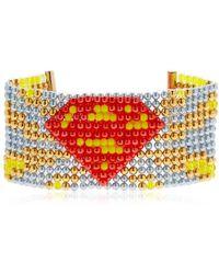 Bijoux De Famille - Supergirl Beaded Cuff Bracelet - Lyst