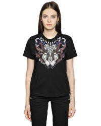 Just Cavalli | Printed Cotton Jersey T-shirt | Lyst