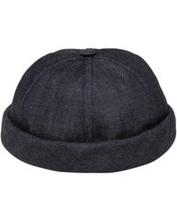 Beton Cire - Handmade Washed Cotton Denim Sailor Hat - Lyst