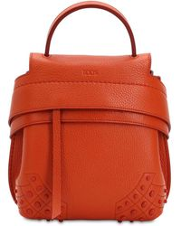 Tod's - Mini Wave Gommino Leather Backpack - Lyst