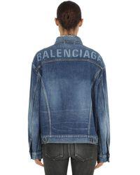 Balenciaga Like A Man Raw Cut Japanese Denim Jacket - Blue