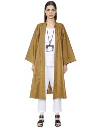 Nehera - Oversized Cotton Blend Trench Coat - Lyst