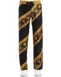 Versace - I Heart Baroque Silk Pajama Pants - Lyst