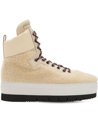 Philippe Model - Adele Faux Shearling High Top Sneakers - Lyst