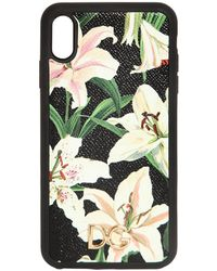 Dolce & Gabbana - Lily Print I Phone X Max Cover - Lyst