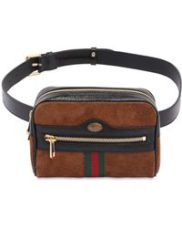 Gucci - Small Ophidia Suede Belt Pack - Lyst