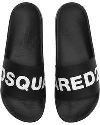 DSquared² - Sandales En Caoutchouc Avec Logo - Lyst