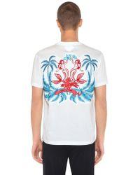 Prada - Oversized Embroidery Jersey T-shirt - Lyst