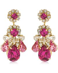 Shourouk - Ds Fuchsia Earrings - Lyst