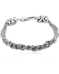 Emanuele Bicocchi - Slim Crochet Sterling Silver Bracelet - Lyst