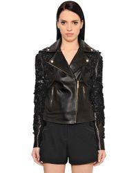Elie Saab - Embroidered Nappa Leather Jacket - Lyst