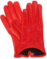 Mario Portolano - Patent & Nappa Leather Gloves - Lyst