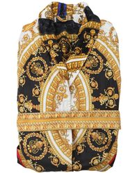 Versace - I Love Baroque Printed Silk Robe - Lyst