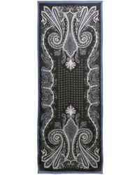 Etro - Paisley Linen & Silk Scarf - Lyst