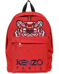 KENZO - Tiger Embroidered Nylon Canvas Backpack - Lyst