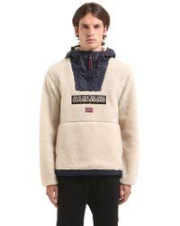 Napapijri | Teide Sherpa Hooded Fleece Sweatshirt | Lyst