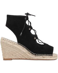 KG by Kurt Geiger | Marine Lace Up Wedge Heeled Sandals | Lyst