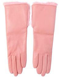 Aristide - Nappa Leather Gloves W/rabbit Fur - Lyst